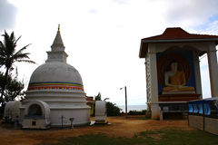 Buddhist Stupa and Buddha statue Royalty Free Stock Images