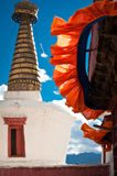 Buddhist stupa ( chorten ) over blue sky Stock Images