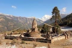 Buddhist stupa in Everest region, Nepal Royalty Free Stock Image