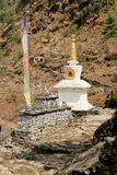 Buddhist stupa in Everest region, Nepal Royalty Free Stock Images