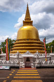 Buddhist stupa in Golden Temple. Buddhist dagoba (stupa) in Golden Temple. Dambulla, Sri Lanka Stock Image