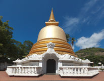 Buddhist stupa in Golden Temple, Sri Lanka stock photos