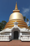 Buddhist stupa in Golden Temple, Sri Lanka Stock Photo