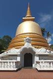 Buddhist stupa in Golden Temple, Sri Lanka stock photo