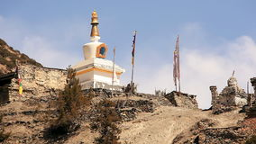 Buddhist Stupa in Himalayas stock video