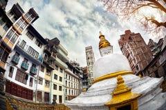 Buddhist  stupa in Kathmandu Stock Photography