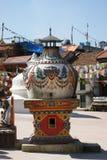Buddhist stupa in Kathmandu, Nepal. Buddhist stupa on the street of Kathmandu city stock photos