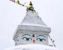 Buddhist stupa in Khunde,  Nepal Stock Images