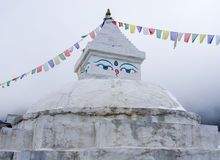 Buddhist stupa in Khunde,  Nepal Royalty Free Stock Image
