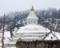 Buddhist stupa in Khunde,  Nepal Royalty Free Stock Photo