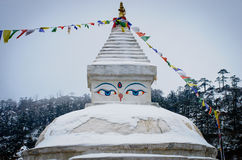 Buddhist stupa in Khunde,  Nepal Stock Photography