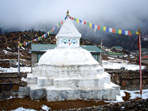 Buddhist stupa in Khunde,  Nepal Royalty Free Stock Photography