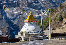 Buddhist stupa in Namche Bazar,  Nepal Stock Images