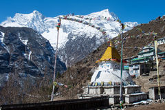 Buddhist stupa in Namche Bazar,  Nepal Royalty Free Stock Photos