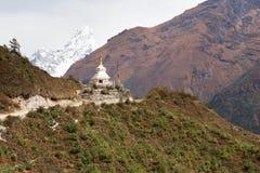 Buddhist stupa near Ama Dablam mountain. Stock Image