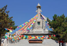 Buddhist stupa near Wusutuzhao Temple, Daqing Mountain, Inner Mo Royalty Free Stock Photos