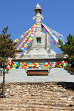 Buddhist stupa near Wusutuzhao Temple,  Inner Mongolia Royalty Free Stock Photography