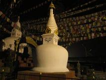 Buddhist stupa at night Stock Photo