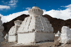 Buddhist stupa over Himalaya mountains. India Stock Image