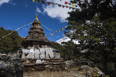 Buddhist stupa in Pangboche Stock Images