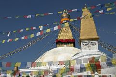 Buddhist Stupa's in Kathmandu Stock Photos