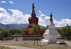 Buddhist Stupa in Tibet Stock Photos