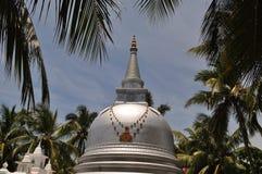 Buddhist Stupa under palm trees, Sri Lanka. Buddhist Stupa under palm trees on Nainativu island near Jaffna in Indian Ocean, Sri Lanka, erected by Sri Lankan Stock Image