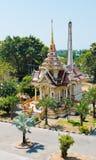 Buddhist stupa in Wat Chalong temple Stock Photo