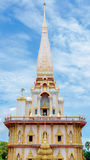 Buddhist stupa in Wat Chalong temple Royalty Free Stock Photography