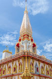 Buddhist stupa in Wat Chalong temple Stock Images