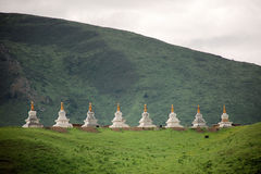 Buddhist stupas Royalty Free Stock Photography
