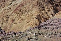 Buddhistic stupas chorten in the Himalayas Stock Photo