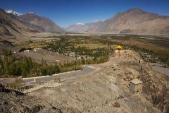 Buddhist stupas in Diskit Monastery, Ladakh, India Royalty Free Stock Images