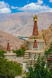 Buddhist Stupas in Hemis Monastery, Ladakh, Northern India Stock Photography