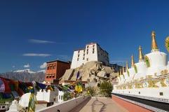 Buddhist stupas at Thiksey Monastery in Leh,Ladakh,India Royalty Free Stock Photo
