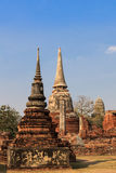 Buddhist stupas, Wat mahathat in Thailand Stock Image