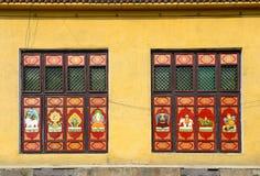 Buddhist sujets as window decoration Royalty Free Stock Image