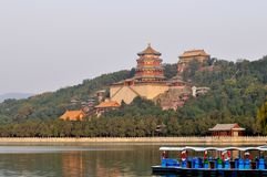 Buddhist Summer Palace Pavilion in Beijing Royalty Free Stock Image
