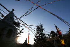Buddhist Swayambhunath Stupa Royalty Free Stock Images