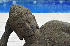Buddhist swimming pool Royalty Free Stock Photo