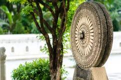 Buddhist symbol. At Suan Mok, Bangkok, Thailand stock photo