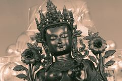 Buddhist Symbols with vintage effect. Close up of Buddhist Symbols with vintage effect Royalty Free Stock Photography