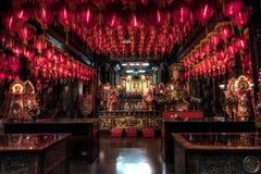 Buddhist Taiwan temple interior Royalty Free Stock Photo
