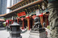 Buddhist and Taoist temple of Sik Sik Yuen Wong Tai Sin, Hong Kong. Stock Photography