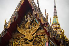 Buddhist temple closeup royalty free stock photo