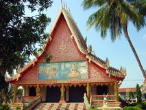 Buddhist Temple 1. A buddhist temple in Vientiane, Laos royalty free stock photo