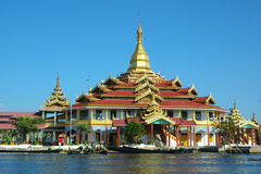 Buddhist temple. On a lake Stock Photo