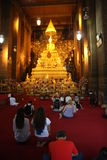 In the Buddhist temple royalty free stock image