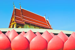 Buddhist temple. In lotus at wat muang Royalty Free Stock Photo