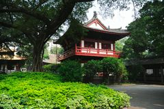 Buddhist temple. Landscaping of the buddhist temple in Guangzhou Stock Photos